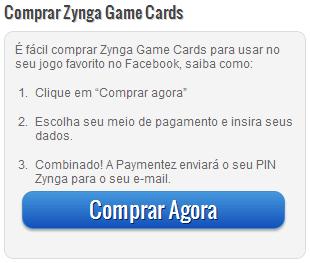 como comprar zynga game cards - Compre CityNotas a partir de R$4,00 !!