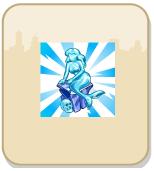 Estátua de sereia de gelo