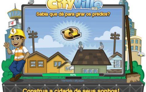 Novas telas de início do CityVille 4