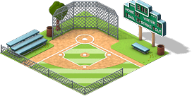 Campo de Beisebol nivel 1 - O Campo de Beisebol vai ter 3 níveis