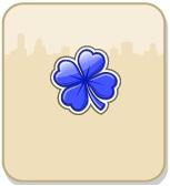 Trevo azul - Presentes: +1 Trevo azul do Arco-Íris grátis!