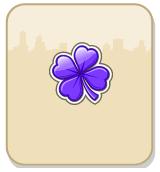 Trevo roxo - Presentes: +1 Trevo roxo do Arco-Íris grátis!