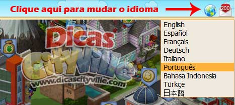 Tutorial Como alterar o idioma do meu CityVille - Tutorial: Como alterar o idioma do meu CityVille?