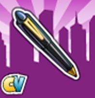 cityville stylo chic - Materiais: Link para pedir Caneta estilosa para o Centro da Cidade!