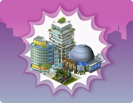 décoration 1 cityville - Novidades Downtown: Novos edifícios pré-fabricados!