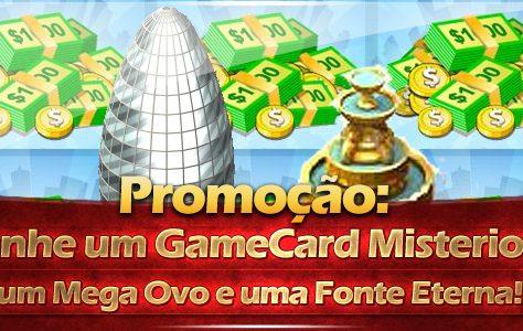 Promoção: Ganhe um GameCard Misterioso, um Mega Ovo e uma Fonte Eterna!