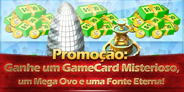 promocao dicas cityville - Promoção: Ganhe um GameCard Misterioso, um Mega Ovo e uma Fonte Eterna!