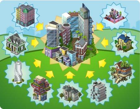 Peça os materiais do novo bairro Distrito da Liberdade no CityVille.