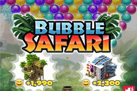 "Materias e metas da nova promoção ""Bubble Safari"" no CityVille"