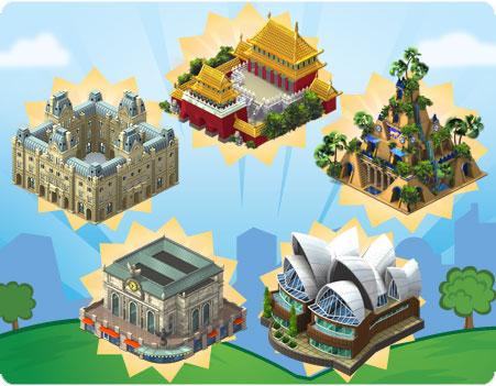 Novidades: Vejas a novas Maravilhas modernas do CityVille ! 2