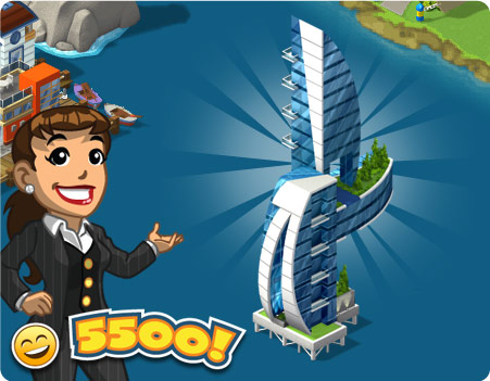 Peça os materiais do novo Arranha-mar do CityVille !