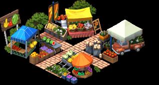 farm farmers market SW - Materiais para melhorar o Mercado dos Fazendeiros no CityVille