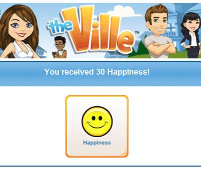 Ganhe 30 de felicidade grátis no TheVille - 15 de Agosto 1