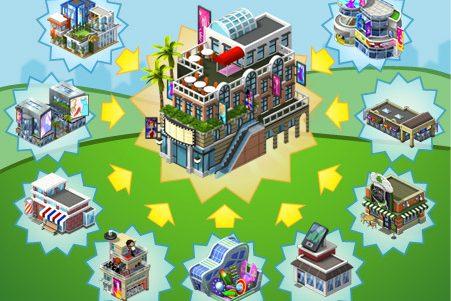 CityVille: Materiais do novo Distrito Comercial