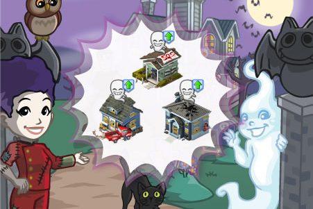 Novidades CityVille: Esta chegando a população fantasma do tema Halloween !