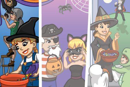 Material CityVille: Meta Feliz Halloween ato 1