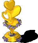 deco honeymoon trophy gold SW - Novidades CityVille: Novos Troféus da lua de mel !