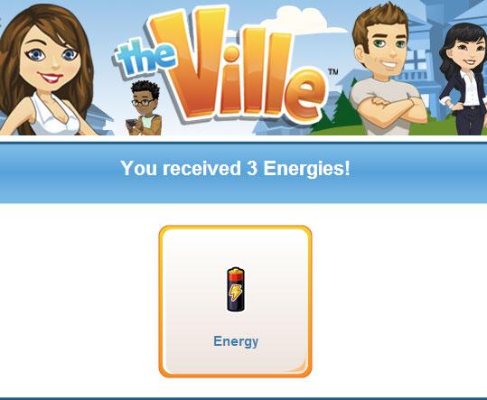 TheVille: Ganhe 3 de energia hoje dia 19 de Outubro 1