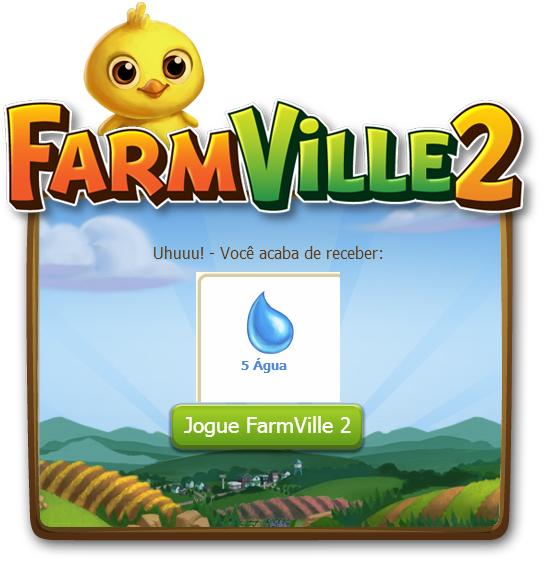 FarmVille 2: Ganhe 5 Água grátis hoje dia 11 de Outubro 2