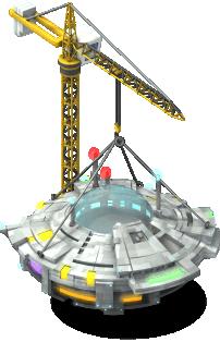 mun ufo mothership lv2 scaffolding SW - Materiais CityVille: Aterrissagem Extraterrestre com novos itens e metas