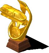 deco monorail trophy gold SW - CityVille: Troféus para o monotrilho mais longo