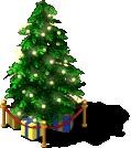 deco holiday tree L3 SE - Materiais CityVille: A árvore de Natal