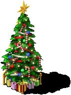 deco holiday tree L6 SW - Materiais CityVille: A árvore de Natal