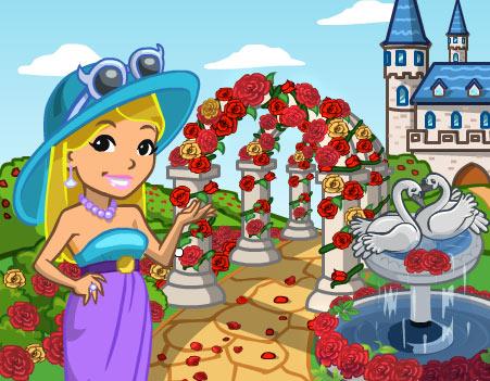 announce rosegarden - Materais CityVille: O Castelo dos jardim rosas