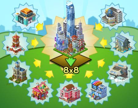announce skyscraper - Materiais CityVille: Peça 15 Para-raios