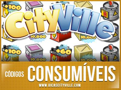 Dicas CityVille: Códigos do consumíveis ( Energia, Equipe Bônus, Licença de Zoneamento, etc )