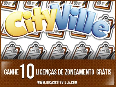 Ganhe 10 Licenças de Zoneamento grátis no CityVille 01-07-13
