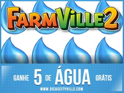 FarmVille 2: Ganhe 5 água grátis 08-10-14