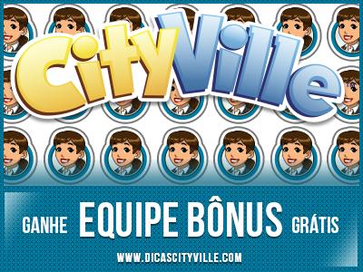 CityVille: Ganhe 1 equipe bônus grátis para sua cidade 10-09-13