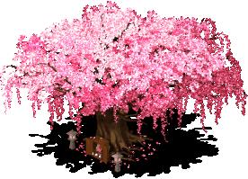 mun cherry blossom tree lv3 SW - Material CityVille: A cerejeira colossal