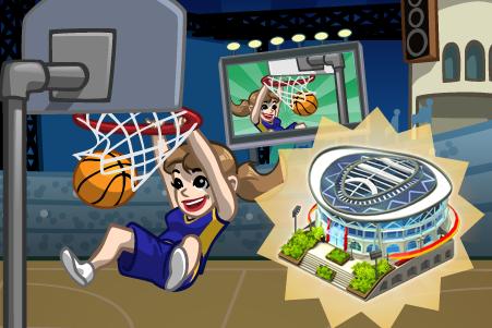 CityVille: Missões do basquete Saga: o estádio de basquete