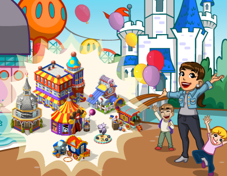 announce amusementpark - CityVille: Material do parque de diversões, peça balões coloridos