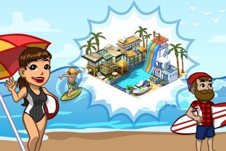 CityVille – Materiais do Resort de Praia