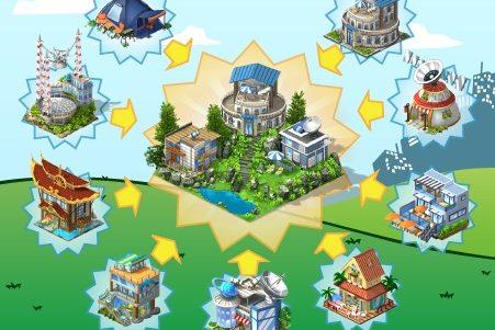 CityVille: Materiais do bairro e do centro cívico de exploração