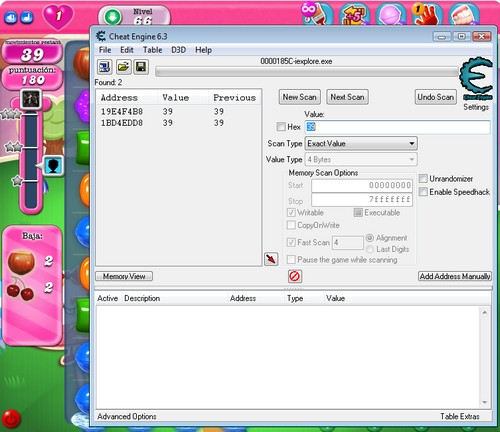 Cheat Engine Candy Crush 2