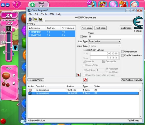 Cheat Engine Candy Crush 3