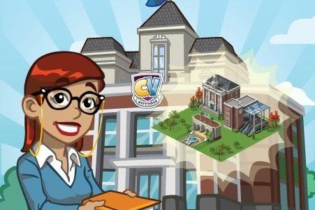 'CityVille' Materiais para construir a Universidade