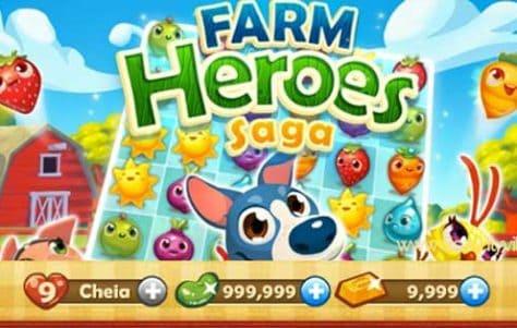 Farm Heroes Saga: Feijões Mágicos, Barras de Ouro Infinitas e todos os boosters